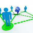 Stock Photo: Global network concept