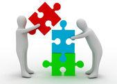 Team puzzle concept — Stock Photo