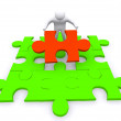 Foto Stock: Business puzzle concept