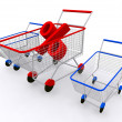 Cart shopping concept — Stock Photo