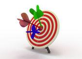 Conceito de sucesso de dardos — Foto Stock