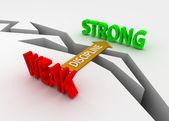 Discipline bridge weak to strong — Stock Photo