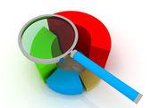 Chart and lens — Foto de Stock