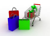 Cart conceptc — Stock Photo