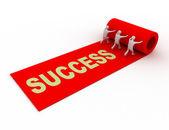 Red carpet.success — Stock Photo