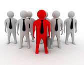 3d man person together leader — Stock Photo