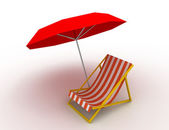 Sunlounger concept — Stock Photo