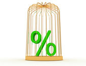 3d percent in cage — Stock Photo