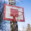 Old Basketball Hoop — Stock Photo