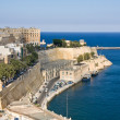 View to Grand Harbour of Valetta — Stock Photo