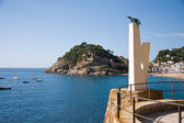 Monument to albatross in Tossa de Mar, Catalonia, Spain, Costa B — Stock Photo