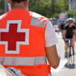 Ambulance on bicycles race — Stock Photo #35911937