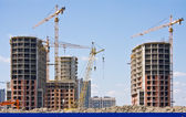 Construction of apartment buildings — Stockfoto
