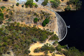 Aerial view of Whispering Wall, Barossa Reservoir, Adelaide, Sou — Stock Photo