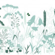 Wild grasses and a butterfly — Stock Vector