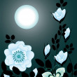 Night flowers — Stock Vector