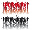 Royalty-Free Stock Imagem Vetorial: Silhouettes of dancing