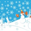 snowmans — Stock Vector