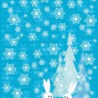 Blue winter Christmas background — Image vectorielle