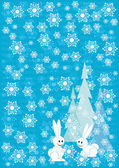 Blue winter Christmas background — Stock Vector