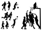Basketbal — Stockvector