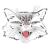 枪口灰猫 — 图库矢量图片