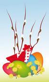 Easter illustration — Stock Vector