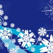 Winter background with snowflakes — Stock Vector #2291516