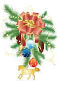 Christmas decorations — Stockvektor