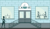Piccolo caffè — Vettoriale Stock