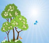 весенний сад — Cтоковый вектор