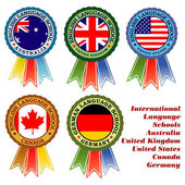 Internationale sprachschulen — Stockvektor