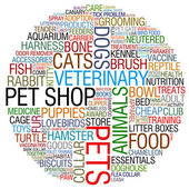 Pet shop collage — Stock Photo