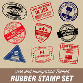 Rubber Stamp Set — Stock Vector