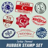 Turkey Stamps — Stock Vector