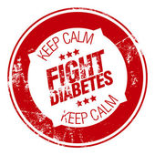 Fight diabetes — Vector de stock