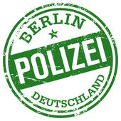 Polizei rubber stamp — Stock Vector