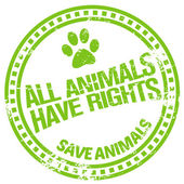 Animal rights — Stock Vector