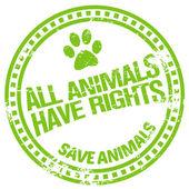動物の権利 — ストックベクタ