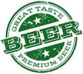 Beer stamp — Stock Vector