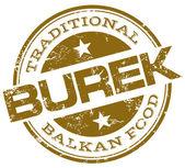 Balkan food burek stamp — Stock Vector