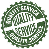 Quality service stamp — Vector de stock