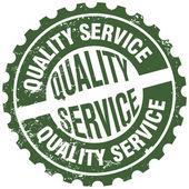 Quality service stamp — Stockvektor