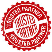 Trusted partner stamp — Stock Vector