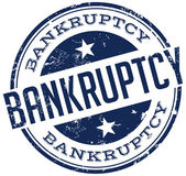 Bankruptcy stamp — Stock Vector