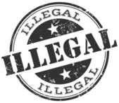 Illegal stamp — Stock Vector