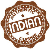 Indian cuisine stamp — Stock Vector