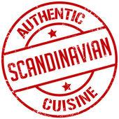 Scandinavian cuisine stamp — Stock Vector