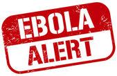 Ebola alert stamp — Vector de stock