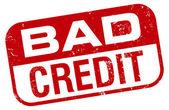 Bad credit stamp — Stock Vector